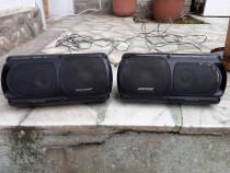 Boxe auto HiFi Bass Reflex 2x100W incintă cutie ( închisă )