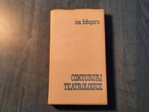 Contururi teatrologice De Ion Iobosaru cu autograf