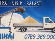 Transport Nisip Balast Piatra Turnu Magurele / Teleorman