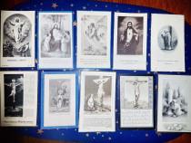 C82F-Semne carte religioase vechi litografice carton 1900.