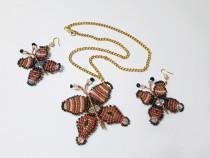 Reducere! Pandativ fluture, fluturasi, handmade margele