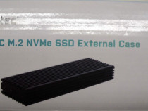 Adaptor Caddy SSD USB-C M2-NVMe Profesional Metalic NOU