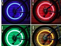 Set 2 buc Lumini Roti Bicicleta/Auto/Moto: Verde, Albastru,