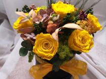 Aranjamente florale cu trandafiri criogenati
