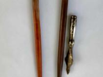 Trei instrumente de caligrafie vechi una din bronz