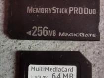 Memory stick PRO duo Sony 256 MB si MMC 64MB