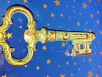 C359-Tirbusin cheie model vita de vie bronz masiv antichizat