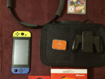 Nintendo Switch modat + ring fit + accesorii