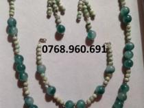 Set bicolor de jad cu argint