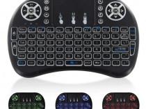 Mini tastatura wireless RGB cu touchpad (Smart TV, TV Box)