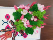 Ramă foto decorată buchet de flori