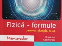 Fizica - formule pentru clasele 6-12 (Memorator)