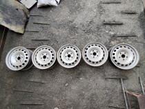 Jante tabla otel 5x112 15 + capace centrale vw caddy