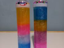 Slime, 2 tuburi, multiculor, cu bilute, H 22 cm
