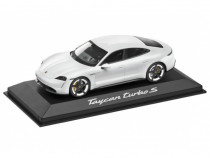 Macheta Oe Porsche Taycan Turbo S 1:43 Alb Metalizat