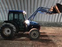 Tractor New Holland TN 65D, Anul 2001 cu încarcator frontal.