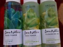 Lotiuni tonice fata cu ceai verde & gel hidratant aloe vera