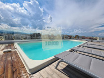 Apartament lux in bloc cu piscina 3 camere 2 bai 3 balcoane