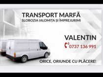 Transport marfă mobila diverse în slobozia si înprejurimi