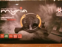 Set volan gaming cu pedale MYRIA MG7400, PS3/PS4/PC/Xbox ONE