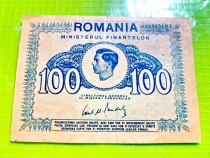 C565-I-Bancnota 100 lei Romania veche 1945.