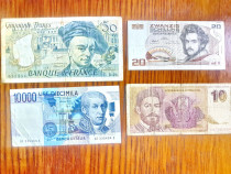 C568-I- Lot 4 Bancnote diverse Europa recente circulate.