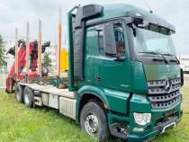 Camion transport lemn 6x4 MERCEDES macara Z+leasing