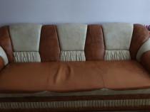 Canapea extensibila, cu doua fotolii