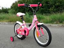 Bicicletă roz pentru fete
