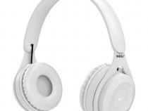 Casti wireless MRG MYO8, Handsfree, Cu bluetooth, Alb C573