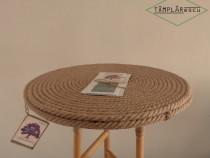 Handmade Măsuță iută și lemn natural lucrată manual TÂMPLĂRe
