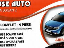 Huse scaun Dacia Logan II cusatura speciala AIRBAG, huse sca