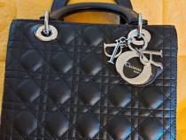 Geanta Christian Dior Lady Dior Noua, marime medie