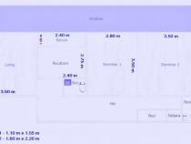 Apartament 3 camere cf1 decomandat, parter, Dorobanti 2