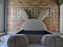 Pat tapițat Rabbit 100% handmade