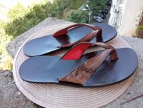Slapi piele, mar.42 (26.5 cm) made in Italy.