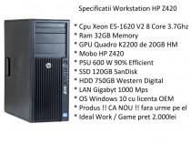 Workstation HP Z420 8 Core 3.7Ghz 32GB RAM, SSD Quadro 20GB