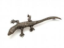 Brosa veche argint Salamandra