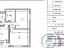 Apartament 3 camere et.2/3 lujerului - veteranilor