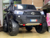 Masinuta electrica pentru 2 copii Toyota Hilux 4WD #Grey