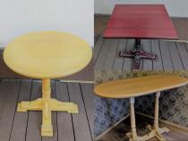 Set mese rotunde/patrate vintage-lemn masiv~Bar,Cafenele