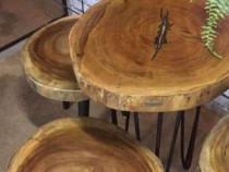 Rondele de lemn mari, blat masa, dimensiuni mari, măsuțe.