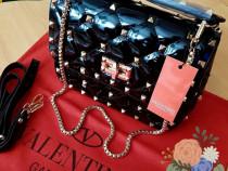 Genti Valentino import Italia, model lacuit,saculet inclus