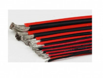 Cablu de silicon monofilar extra moale set negru+rosu 10m