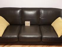 Canapea piele naturala - 3 locuri - ikea