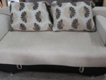 Canapea extensibila cu perne; Pat cu Lada si Saltea 190x150