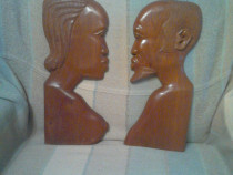 Capete africane femeie si barbat