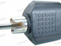 Adaptor RCA tata - 2 x jack mama 3,5 mm mono - 126705
