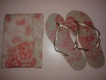 Papuci vara + esarfa / papuci plaja +esarfa / slapi + esarfa