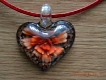 Colier Inima din sticla